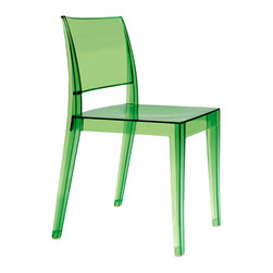 PAPATYA - PAPATYA GYZA CHAIR, Set of 2, Transparent Green - Stackable injected polycarbonate chair in a single piece. Ergonomic shape and attractive colours gives an appealing look. Anti UV stabilised. Suitable for indoor and outdoor use. Priced as set of 2.
