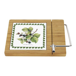 Portmeirion - Portmeirion Pomona Pimpernel Bamboo Cheese Board - 2014228022 - Shop for Cheese Boards and Servers from Hayneedle.com! About PortmeirionStrikingly beautiful eminently practical refreshingly affordable. These are the enduring values bequeathed to Portmeirion by its legendary co-founder and designer Susan Williams-Ellis. Her father architect Sir Clough Williams-Ellis was the designer of Portmeirion the North Wales village whose fanciful architecture has drawn tourists and artists from around the world (including the creators of the classic 1960s TV show The Prisoner). Inspired by her fine arts training and creation of ceramic gifts for the village's gift shop Susan Williams-Ellis (along with her husband Euan Cooper-Willis) founded Portmeirion Pottery in 1960. After 50+ years of innovation the Portmeirion Group is not only an icon of British design but also a testament to the extraordinarily creative life of Susan Williams-Ellis.The style of Portmeirion dinnerware and serveware is marked by a passion for both pottery manufacturing and trend-setting design. Beautiful tactile nature-inspired patterns are a defining quality of Portmeirion housewares from its world-renowned botanical designs modeled on antiquarian books to the breezy natural colors of its porcelain and earthenware. Today the Portmeirion Group's design legacy continues to evolve through iconic brands such as Spode the Pomona Classics collection and the award-winning collaboration of Sophie Conran for Portmeirion. Pomona for Portmeirion:Classical in both its inspiration and its style the Pomona Collection from Portmeirion Group is a garden of earthly delights. Named for the ancient Roman goddess of fruit and abundance its lifelike patterns and fruit motifs are inspired by a collection of early 19th-century books of hand-colored botanical drawings. The Pomona Collection was introduced in 1982 by legendary designer and Portmeirion co-founder Susan Williams-Ellis whose iconic garden- and botanical-themed designs are still among the world's most popular casual tableware motifs.The Pomona Collection's intricately detailed botanical drawings feature green leaf borders and multi-color fruit displays on a background of high-fired white earthenware. Each distinctive motif bears an elegant cursive title to indicate its botanical origins. These include The Hoary Morning Apple The Teinton Squash Pear The Wild Blackberry The Roman Apricot Grimwoods Royal George (Peach) and The Late Duke Cherry. Together the multiple motifs and dishes of the Pomona Collection of serveware dinnerware and drinkware create bountiful opportunities for mixing and matching sets. Made of dense earthenware these pieces are dishwasher- microwave- freezer- and oven-safe (to 350 F). Give nature its fullest expression in every season and setting with the Pomona Collection from Portmeirion.