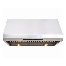 """Cavaliere - Cavaliere AP238-PS85 30"""" Under Cabinet Range Hood - Cavaliere Stainless Steel 360W Under Cabinet Range Hood with 4 Speeds, Timer, LCD Keypad, Stainless Steel Baffle Filters, Heat Lamps & Halogen Lights"""