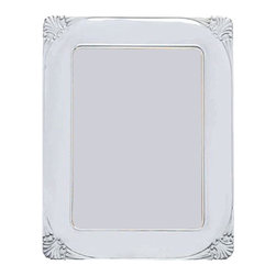 "Silverstar International - 8""x10"" Danielle Silver Sterling Frame - The Danielle solid 925 sterling silver anniversary photo frame is handcrafted in Italy and features a gorgeous motif sterling in each curved corner. It has a luxurious mahogany back with slide tab closures that allow for easy access to your photographs. This frame is a perfect choice for the Bride & Groom or the Mother of the Bride. Make it an extra special keepsake by having it engraved.Every Silverstar picture frame is designed with a tarnish resistant surface for easy cleaning and glare resistant glass."