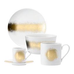 LSA Celeste Gold Tableware - I love this set of gold-accented tableware by John Lewis.