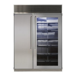 """Marvel - MPRO60CSSSGX 60"""" Professional Side-by-Side Dual Cabinet Refrigerator with Bold P - Each of MARVEL39s side-by-side refrigeratorfreezers displays our commitment to superior construction choice and capacity Interiors are solidly built in your choice of arctic white aluminum or gleaming stainless steel All products are frost-free and h..."""