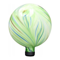 """Alpine Corporation - 10"""" Gazing Globe - Green - This mosaic gazing globe utilizes individually hand-blown glass pieces creating a beautiful array of golds and reds along with other colors, making a great addition to any garden area. Place a gazing ball among your perennials, near the rose bushes, or at the end of a pathway. Stand not included."""