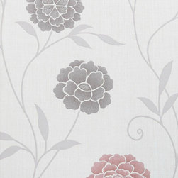 Bijou Coverings - Modern Floral Print Wallpaper, Red - Bijou Coverings wallcoverings can transform a room quickly and easily. In today's world, wallpaper is the hip new approach to cover your walls, a way to express your individuality and personal taste. Its so versatile; you can wallpaper all four walls, accent wall, the ceiling or create a large over scaled piece of artwork by framing it. With patterns that go from formal to fresh , raise textures, and modern palettes as well as fanciful floral trail patterns. We have an option for all tastes. Our wallcoverings have a washable vinyl coating applied to the surface for stability and ease of use.