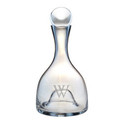 None - Personalized Lenox Aerating Wine Decanter - Serve up wine or other spirits in personalized style with this monogrammed Lenox wine decanter. This clear wine decanter is crafted from beautiful lead-free crystal and is monogrammed with the initial of your choice. It holds 48 ounces.
