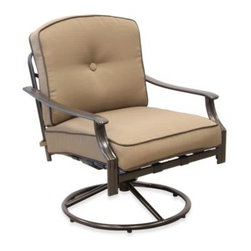 Pride Family Brands Inc. - Tan Swivel Rocking Chair - Fun outdoor style combined with amazing comfort
