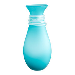 Cyan Design - Cyan Design 06680 Blue Medium Alpine Vase - Cyan Design 06680 Blue Medium Alpine Vase