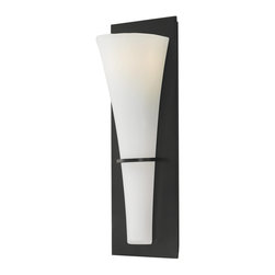 Murray Feiss - Murray Feiss Barrington Wall Sconce in Oil Rubbed Bronze - Shown in picture: Barrington Wall Bracket - ADA Compliant in Oil Rubbed Bronze finish with Opal Etched Glass