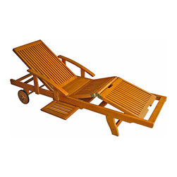 Royal Tahiti Yellow Balau Wood Large Chaise Lounge - This is the ultimate lounger for the backyard. It can be adjusted to what is comfortable for you! I can totally see a few of these next to the pool.