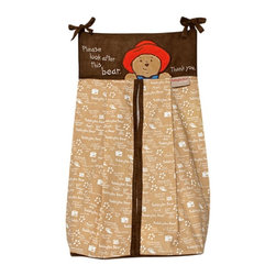 Trend Lab - Trend Lab Paddington Bear Diaper Stacker - 65019 - Shop for Diaper Stackers from Hayneedle.com! The dapper nursery cries out for the Trend Lab Paddington Bear Diaper Stacker. With soothing neutral colors and Paddington's friendly face in applique this stacker keeps up to three dozen diapers at the ready. The stacker body resounds with a tan and white print capturing Paddington's little paw prints and favorite sayings. Convenient ties allow you to attach this stacker to most any dresser changing table or closet rod. And holds up to three dozen diapers. Coordinating Paddington Bear by Trend Lab items are only a click away.About Trend LabFormed in 2001 in Minnesota Trend Lab is a privately held company proudly owned by women. Rapid growth in the past five years has put Trend Lab products on the shelves of major retailers and the company continues to develop thoroughly tested high-quality baby and children's bedding decor and other items. Trend Lab continues to inspire and provide its customers with stylish products for little ones. From bedding to cribs and everything in between Trend Lab is the right choice for your children.