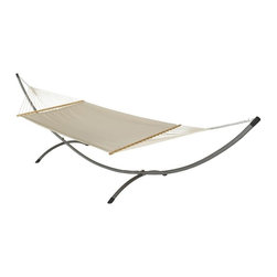 Phat Tommy - Sunbrella Hammock in Dove - The Phat Tommy Sunbrella Dupione Hammock is part of Outdoor Oasis Line and is our most durable and beautiful outdoor hammock. For your outdoor room or by the pool, Phat Tommy Sunbrella products give you the sophisticated style you want with the protection you need. Sunbrella's tough, long-lasting fabrics handle the worst Mother Nature can give, year after year. From the baking sun to endless rain, Phat Tommy Outdoor Oasis products look great in any season.