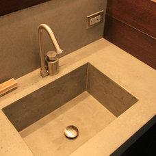 Contemporary Bathroom Sinks by Concrete Shop