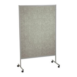 Best Rite - Best Rite Mobile 3-Panel Room Divider - 6.5W x 12.5H ft - 689D3-44 - Shop for Room Dividers from Hayneedle.com! Display learning or teaching tools on the Best Rite Mobile 3-Panel Room Divider. This TAA compliant divider comes with hook-and-loop fabric or with easy-to-clean vinyl surface options. These panels are framed in an anodized aluminum trim while the surface is suitable for tacks to attach display materials. Side hinges allow you to customize your personal configuration. Mobility is ensured with its casters.
