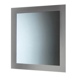 Gedy - Silver Horizontal or Vertical Mirror With Frame - A designer vanity mirror for your high-end master bath. Available in silver and made in mirror, this high-end vanity mirror is manufactured in and imported from in Italy by Gedy and is part of the Gedy Maine collection. Consider this rectangle wall mount vanity mirror. Contemporary & modern vanity mirror made of mirror. Finished in silver. Part of the Gedy Maine collection. Manufactured in and imported from Italy. High-End, designer vanity mirror.