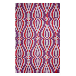 """nuLOOM - Contemporary 8' 6"""" x 11' 6"""" Purple Hand Hooked Area Rug UZB53 - Made from the finest materials in the world and with the uttermost care, our rugs are a great addition to your home."""