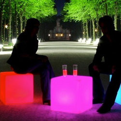 Outdoor LED Lights - Took the photos myself. Outdoor LED light for hotels and night clubs.  Nine Hours of continuous Use, changes colors by remote control. Prices vary based on size, for more info contact us at Jaavanpatio.com