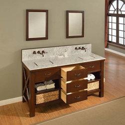 """70"""" Luton Double Sink Vanity (70D1-Es) -"""