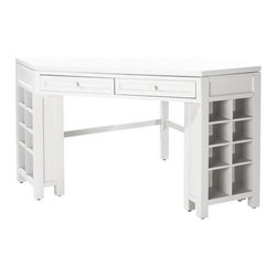 Martha Stewart Living Craft Space Corner Table, Picket Fence - This is the ultimate craft table for someone who has a lot of supplies!