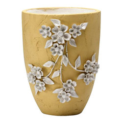 Cyan - Large Lucy Planter, Yellow - Weight: 12.85 lbs.
