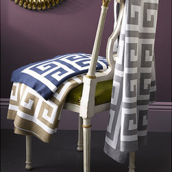 Matouk Arcadia Throw - Almost every room in the house can use a good throw, and this one gets bonus points for being decked out in a Greek key pattern. Fold one over the back of a sofa, lay one at the foot of the bed or take it outdoors to curl up with on a chilly night.