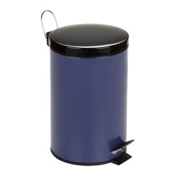 12L Step Trash Can, Purple - Honey-Can-Do TRS-03553 Colorful Steel Step Trash Can, Purple.  A contemporary and cheerful addition to any room, this 12L trash can is the perfect size for a kitchen, dorm room, or home office. The sturdy construction and robust design stand up to daily use. A steel foot pedal provides hands-free operation to keep germs at bay. A plastic inner trash bucket is fully removable for easy emptying and cleaning. The purple, hand print resistant exterior is easy to clean and features a metal fold down carrying handle.