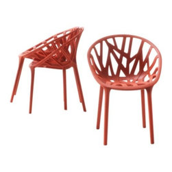 Vitra - Miniature Vegetal Chairs (Set of 3) by Vitra - In 2008, after several years of intense experimentation with injection-molding, Ronan & Erwan Bouroullec released the strong yet organic-looking Vegetal Chair. Made using the same innovative process, the Vitra Miniature Vegetal Chairs (Set of 3) replicates the intricate, branch-like structures at 1:6 scale. Also like the original, the miniature is stackable up to 3 high, so 3 are included to do just that. Founded in Switzerland in 1950, Vitra produces intelligent and inspiring furniture and accessories for the home, office and other public spaces. Ever mindful of the importance of sustainability in design, Vitra creates furnishings with high quality and versatile style that ensures functional and aesthetic enjoyment for the long term.