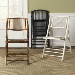 Bamboo Folding Chairs - With the holidays around the corner, it's almost time for entertaining many guests. These bamboo folding chairs would not only look great, but come in handy, too!