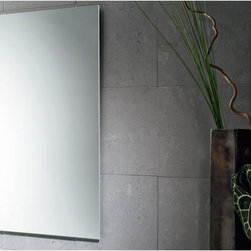 """Gedy by Nameeks - Planet 32"""" x 20"""" Vanity Mirror - Features: -Vanity mirror. -Finish: Polished. -Constructed of mirror. -Shape: Rectangle. -Wall mounted. -For contemporary bathrooms . -Dimensions: 31.5"""" H x 0.8"""" D x 19.7"""" W."""