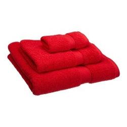 Luxurious Egyptian Cotton 900 Gram 3-Piece Red Towel Set - Luxurious 900GSM 3-Piece Red Towel Set