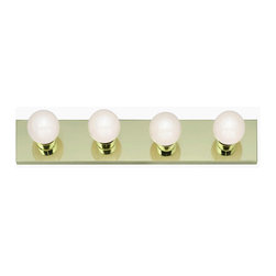 "Nuvo Lighting - Nuvo Lighting 77/189 Four Light 24"" Bathroom Bar Light, in Polished Brass Finish - Nuvo Lighting 77/189 Four Light 24"" Bathroom Bar Light, in Polished Brass FinishNuvo Lighting 77/189 Features:"