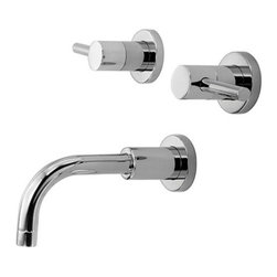"""Newport Brass - Newport Brass 3-1505 East Linear Double Handle Tub Faucet Trim with Metal Lever - East Linear Double Handle Tub Faucet Trim with Metal Lever HandlesThe East Linear Collection from Newport Brass will be a stylish and modern looking addition to any household. With its smooth, simple lines, the East Linear Collection is a great way to enhance the beauty of your home. Newport Brass lavatory faucets are available in several different styles with 25 unique finish options. Every Newport Brass bathroom faucet is CA/VT low lead compliant and WaterSense certified. Solid brass construction and ceramic disc cartridges ensure that your Newport Brass bath faucet will last the test of time. You will see why Newport Brass boasts Flawless Beauty from Faucet to FinishFeatures:Double handle tub filler faucetSolid brassADA compliant lever handleRequires Newport Brass Valve : 1-500 (sold separately)Includes :Lever Handles and EscutcheonsSolid Brass Tub SpoutFinish Features:Available in 25 beautiful finishesNew Industry Leading lacquer Finish ProcessIAPMO Certified and testedLong Life Finishes - 10 Year WarrantyDurable, color protected, scratch resistantGreen, low VOC, energy efficient finishing processSpecifications:Handle type : Metal lever handlesMaterial : Solid BrassHandles Included : YesSpout length : 6-9/16""""Centers : 8""""Overall width : 9-7/16"""""""