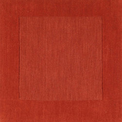 """Surya - Surya Mystique M-300 (Red Orange) 12' x 15' Rug - Combining centuries old """"hand looming"""" techniques with the finest colors, we have created these crisp and casual designs. Handcrafted in India from 100% wool, teams of craftsmen work traditional shuttle looms to create these unique rugs. Each piece is then painstakingly hand finished, hand carved and detailed."""