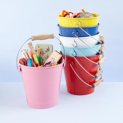 My Bucket, My Buddy - I would love a different color bucket for everything: pencils, scraps, crafts, fabric, pipe cleaners. Although with my daughter's extensive art supplies, I'd end up with enough buckets to fill the whole room.