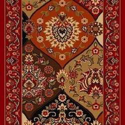Traditional Kings Court Persian Vines Area Rug - The Kings Court Persian Vines area rug Collection offers an affordable assortment of Traditional stylings. Kings Court Persian Vines features a blend of natural Red color. Machine Made of Nylon the Kings Court Persian Vines Collection is an intriguing compliment to any decor.
