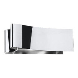 """Metal Spot - Metal Spot Nastro 45300 Wall Sconce - The  Nastro wall sconce was designed by Alessandra Gipponi for Metalspot in  2008.  The Nastro wall sconce has a metal structure with a chrome or a  white finish.  The Nastro closely resembles a ribbon, perfectly formed,  that adds a fresh contemporary look to any room.  Product description:  The Nastro wall sconce was designed by Alessandra Gipponi for Metalspot in 2008.  The Nastro wall sconce has a metal structure with a chrome or a white finish.  The Nastro closely resembles a ribbon, perfectly formed, that adds a fresh contemporary look to any room.                         Manufacturer:                        Metalspot                                                 Designer:                        Alessandra Gipponi                                         Made in:                        Italy                                         Dimensions:                        Height: 5.1"""" (13 cm) X Width: 13.7"""" (35 cm)                                          Light bulb::                        1 X 160W R7s 118mm Halogen                                         Material:                                                                                                            Metal"""