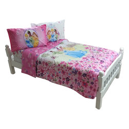 Store51 LLC - Disney Princess Full Bedding Set Royal Garden Bed - Features: