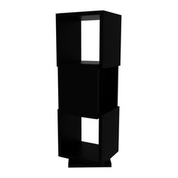 Tema Home - Shell Trio, Pure Black - A trio of black lacquered cubes that swivel independently, creating a functional, lovely storage and display unit ideal for your space. Pop it in the corner for your books or — if you need a little private space for yourself — in the middle of the room for a winsome room divider.