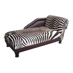 Classic Chaise Lounge, Zebra Skin & Kudu Leather - Just imagine this so very cool chaise lounge in your den or living room? I like the combination of the zebra skin and the traditional frame, as it harks back to times of yore when you might find something like this in an English country house.