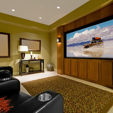 Contemporary Home Theater by CliqStudios Cabinets