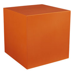 Cube Table-Planter - Planters don't have to be boring, so why not make them orange?