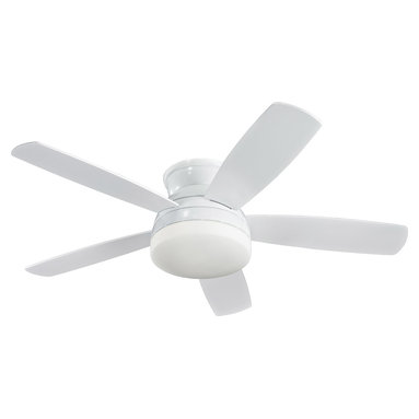 Monte Carlo Fan Company - Monte Carlo Fan Company 5TV52WHD Traverse 1 Light Indoor Ceiling Fans in White - 52in 5 Blade White
