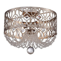 Minka Lavery - Minka Lavery 4847-276 4 Light Flush Mount Ceiling Fixture from the Lucero Collec - Four Light Flush Mount Ceiling Fixture from the Lucero CollectionFeatures: