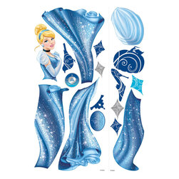 RoomMates Peel & Stick - Cinderella Glamour Giant Wall Decal - Bring glamour and a bit of sparkle into any room with these easy to use Cinderella glamour wall decals. Those who love Disney's classic princess will instantly fall in love with this new take on the timeless fairy tale. Use these graphics to create a fairytale scene on one wall, spread them out to multiple walls or decorate smooth surfaces like doors, windows, mirrors, furniture, and more. An easy way to add glamorous beauty to any room in just minutes!