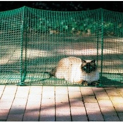 "Kittywalk Systems - Deck & Patio Outdoor Pet Enclosure - Allow your cat to relax in the fresh air, watch birds, exercise, and enjoy the sunshine with the Deck & Patio Outdoor Pet Enclosure by Kittywalk. This pet enclosure is made with solid steel wickets and rip-stop netting making sure your cat is safe and secure. Perfect for backyard decks, patios, or apartment balconies, the Deck & Patio extends to 6 feet giving your cat plenty of room for fun. Show your kitty the purrrfect way to enjoy the great outdoors with the Deck & Patio Outdoor Pet Enclosure. Features: -Constructed of solid steel wickets and rip-stop netting. -Ideal for backyard decks, patios, and apartment balconies. -Easy, snap together rail system. -Weather resistant for all seasons. -Connects with other Kittywalk units available separately. -Travel bag included. -Canopy and hammock not included. Dimensions: -Folded dimensions: 24"" H x 18"" W x 4.5"" D. -Set-Up dimensions: 24"" H x 18"" W x 72"" D. Product Awards: -Winner, 2005 Cat Fancy Editors' Choice Award. -Winner, Pet Business Best New Product Award."