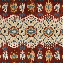 """Loloi - Loloi Leyda Ly03 Red / Multi Rug 5'-0"""" X 7'-6"""" - Transform your home into a designer haven with the chic Leyda Collection of Ikat patterns. Whether you are looking for an interior that is soft and subtle or bold and dramatic, the Leyda Collection has an option to fit your personal style. Hand-tufted in India of 100-percent wool, these striking rugs come in up-to-date blue, ivory/multi, black/light gold, red/multi, midnight, cream/gray, ivory, light gold and gray/denim. Leyda is the makeover you have been dreaming about."""