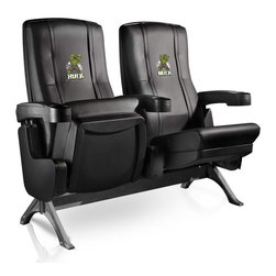 Dreamseat Inc. - The Incredible Hulk Row One VIP Theater Seat - Double - Check out these fantastic home theater chairs. These are the same seats that are in the owner's VIP luxury boxes at the big stadiums. It has a rocker back and padded seat, so it's unbelievably comfortable - once you're in it, you won't want to get up. Features a zip-in-zip-out logo panel embroidered with 70,000 stitches. Converts from a solid color to custom-logo furniture in seconds - perfect for a shared or multi-purpose room. Root for several teams? Simply swap the panels out when the seasons change. This is a true statement piece that is perfect for your Man Cave, Game Room, basement or garage.