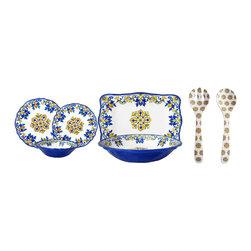 Le Cadeaux - Seville White 16 Piece Melamine Dinnerware Set, White - Triple strength melamine - not microwave safe but dishwasher safe.
