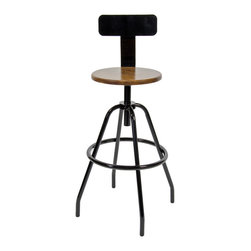 Industrial Factory Stool - Pull up a seat from the early 20th century when the Machine Age sparked the Art Deco movement and American steel production went into high gear. These Industrial Factory Work Stools were often found in laboratories and factories, but their timeless design is perfect for your home or office. Manufactured exclusively for Barn Light Electric by MAKR, these sturdy vintage stools, crafted entirely from stainless steel, complement many home styles and can be customized to fit your space. Choose classic black or the rustic galvanized look for your traditional or country home, or try the bold red finish for your urban loft space. Also available in a backless design.