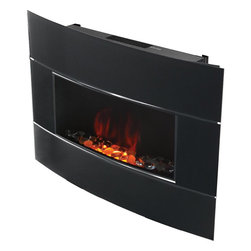 Jarden - Bionaire Black Electric Fireplace - This heater provides the ambiance and warmth of a fireplace,without the mess. No logs,no open fire,no propane,no fumes to deal with. Beautiful and modern,fits in with your home and your lifestyle.