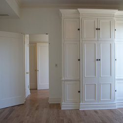 White Traditional Built-in - - Custom Color and Stain